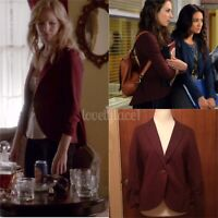 Gibson Equestrian Blazer SA Burgundy ASO Caroline Forbes Spencer Hastings Medium