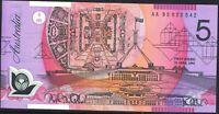 Australia Last 1st Prefix $5 AA95 + Dated Black Ovpt Fraser Evans Polymer r217aF