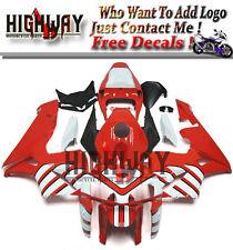 Injection ABS Fairings For Honda CBR600RR F5 05-06 Red White Stripe Fairing Kits