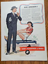 1942 Hart Schaffner & Marx Clothes Ad  Eye Opener! Lady on Rowing Machine