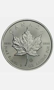2000 & Up 1 oz Canadian Silver Maple Leaf $5 Coin 9999 Fine Silver BU - IN STOCK