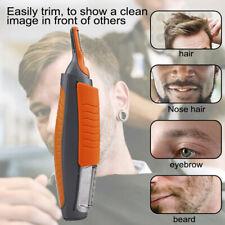 2 in1 Stainless Steel Hair Trimmer Beard Razor Head Trimmer Multi-function Tools