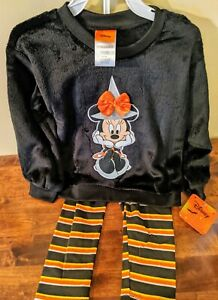 Minnie Mouse Halloween Witch Tunic and Leggings Set Size 4T