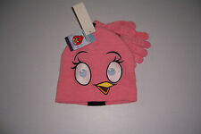 ANGRY BIRDS CHICK GIRL'S  WINTER BEANIE CAP & GLOVE SET ONE SIZE FITS MOST NWT!
