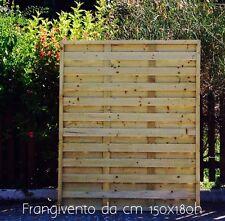 Frangivento in legno di pino impregnato in AUTOCLAVE da cm 120x180h