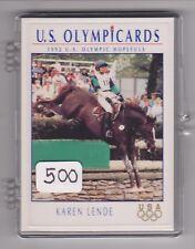 (500) 1992 US OLYMPIC HOPEFULS KAREN LENDE CARDS #41 ~ GIANT LOT ~ EQUESTRIAN