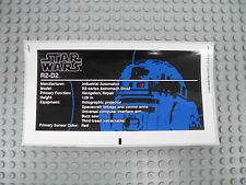 LEGO Star Wars 10225 - R2-D2 - STICKER / AUFKLEBER - R2D2 Stickers Decals UCS