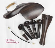 YDC Violin Rosewood  Fitting 8 Piece Set --German Tailgut ----Guarneri Chinrest