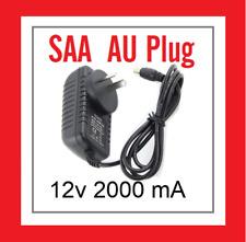 NEW SAA Approved AU AC Power Supply Adaptor 240V Converter DC 12V 2000mA*