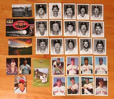 25 Vintage BOSTON RED SOX Photos Post Cards TED WILLIAMS CARL YASTRZEMSKI TIANT