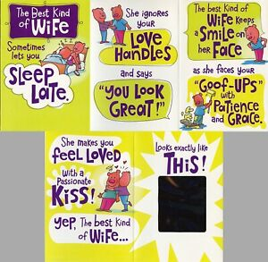 Hallmark Humorous Anniversary or Birthday Card--Best Kind of Wife w/ Foil Mirror