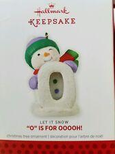"NIB 2013 HALLMARK CHRISTMAS TREE ORNAMENT ""O"" IS FOR OOOOH! QRP5935 NEW"