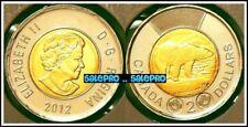 CANADA 2012 CANADIAN TOONIE POLAR BEAR QUEEN ELIZABETH BIMETALLIC $2 DOLLAR COIN