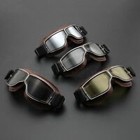 Aviator Pilot Goggles Steampunk Motorcycle Scooter Bike Glasses Outdoor Eyewear