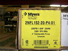 """MYERS 11/2HP 4"""" SUBMERSIBLE PUMP 2NFL152-20"""