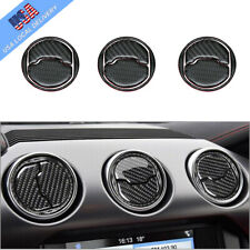 9Pcs Carbon Fiber Interior Air Vent Outlet Cover Trim For Ford Mustang 2015-2019
