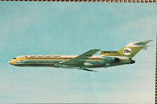 AK Airliner Postcard LIBYAN ARAB AIRLINES B.727 airline issue II