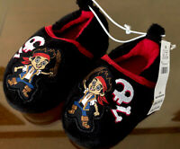 DISNEY SLIPPERS SHOES~SZ 5-6 PIRATE JAKE & THE NEVERLAND TODDLER CHILD PLUSH