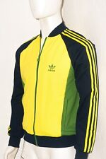 Adidas Rare Green and Yellow Jamaica Track Bomber Jacket