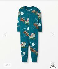 New Hanna Andersson one-piece Pajama sz 60 3-6 months Holiday Christmas Santa