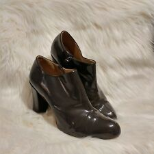 CLARKS Active AIr UK SIze 7 Grey Patent Ankle Boots Career Heels Inside Zipper