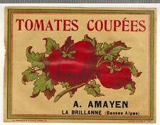 Etiquette Ancienne - Tomates Coupées - Chromo -  A.Amayen - Réf.n°304