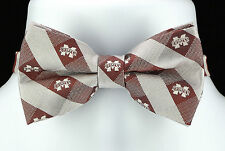 Mississippi State Bulldogs Mens Bow Tie Adjustable College University Bowtie New