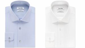 Calvin Klein Steel Men's Classic-Fit Non-Iron Herringbone Dress Shirt