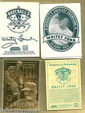 1996 23 KT GOLD CARD BLEACHERS WHITEY FORD BOX & COA