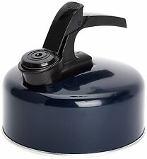 New Whistling Kettle Aluminium 1 Litre Camping Kitchen Tea Coffee Spout Blue