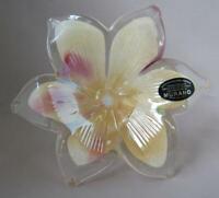 Genuine Italian Art Blown Glass Flower Murano Hush Pink Made in Italy  No 292
