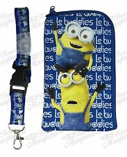 Minions Lanyard Zipper Wallet & ID Pouch Holder - Royal Blue