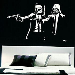 Pulp Fiction Star Wars Take Darth Vader Boba Fett Wall Sticker Quentin Tarantino