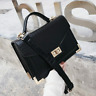 Retro Square Leather Women Crocodile pattern Tote Lock Shoulder Messenger Bags