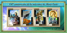 Central African Rep 2017 MNH Marie Curie 150th Birth Anniv 4v M/S Science Stamps
