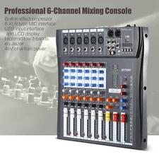 ammoon 6-Channel Mic Audio Mixer Mixing Console 3-band EQ with USB XLR Input 48V