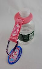 Water bottle holder carrier hands free clip pink ribbon Breast Cancer Awareness