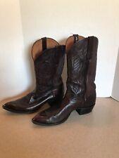 Vintage Larry Mahan Western Leather Cowboy Boots Usa Mens Size 12 D