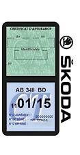 Porte vignette assurance SKODA double étui sécurité voiture Stickers auto rétro