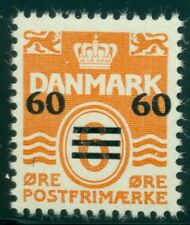 FAROE ISLANDS #6 (8) 60/6ore Surcharge, og, NH, VF, Facit $300.00