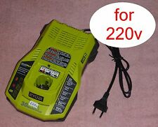 Ryobi One+ P117 18v Dual Chemistry Charger 220v 240v EU Plug IntelliPort