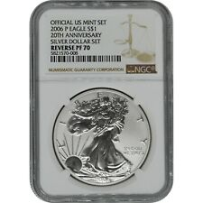 2006-P American Eagle Reverse Proof 20th Anniversary Silver Coin NGC PF70