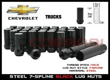 1999-2019 GMC Sierra 2500 3500 HD 8 Lug M14x1.5 32PC 7-Spline Lug Nuts Black