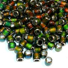 MCX133L Color Changing Thermo Sensitive Sparkle Mood Bead 7mm Round Barrel 50pc