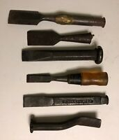 Vintage Mixed Lot Of 6 Chisels STANLEY PLUMB OTHER