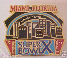 Super Bowl 10 Final Score Commemorative Pin Cowboys vs Pittsburgh Steelers PSG
