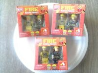 (LOT OF 3) Block Tech Fire Rescue Figures 2 Minifigs Compatible with Lego NEW!