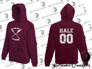 Felpa Hoodie Teen Wolf Beacon Hills Lacrosse Derek Hale 00 Tyler Hoechlin