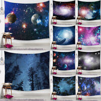 Forest Starry Tapestry Hippie Milky Way Wall Hanging Bedroom Dorm Decor Yoga Mat