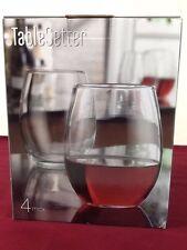 06463cc8e04 Home Essentials Tablesetter 21oz Stemless Wine Glass Goblet S/4 NIB